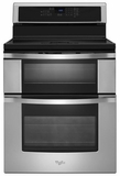 WGI925C0BS Whirlpool 6.7 Cu. Ft. Double Oven Electric Range with Induction Cooktop - Stainless Steel