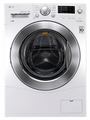 """WM1377HW LG 2.3 cu. ft. Capacity 24"""" Wide Compact  Capacity Front Load Washer with 6 Motion Technology - White"""