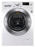 "WM1377HW LG 2.3 cu. ft. Capacity 24"" Wide Compact  Capacity Front Load Washer with 6 Motion Technology - White"