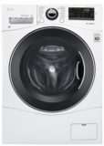 "WM1388HW LG 24"" 2.2 cu.ft. Compact Front Load Washer with 14 Wash Cycles and Speed Wash - White"