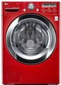 WM3250HRA LG 4.0 Cu. Ft. Ultra Large Capacity Steamwasher with Coldwash - Wild Cherry Red