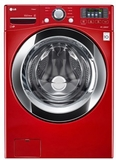 WM3370HRA LG 4.3 Cu. Ft. Ultra Large Capacity Washer with Steam Technology - Wild Cherry Red