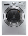 "WM3477HS LG 2.3 cu. ft. Large Capacity 24"" Compact All-In-One Washer/Dryer Combo - Silver"