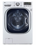 "WM3997HWA LG 27"" Turbo Wash Series Electric Washer-Dryer Combo with ColdWash Option and Steam Technology - White"