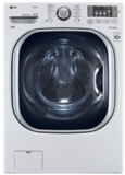 "WM4370HWA LG 27"" 4.5 cu. ft. Ultra Large Capacity Front Load Washer with Coldwash Technology and NFC Tag On - White"
