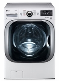 "WM8100HWA LG 29"" 5.2 cu. ft. Mega Capacity Front Load Washer with Steam Technology and SenseClean System - White"