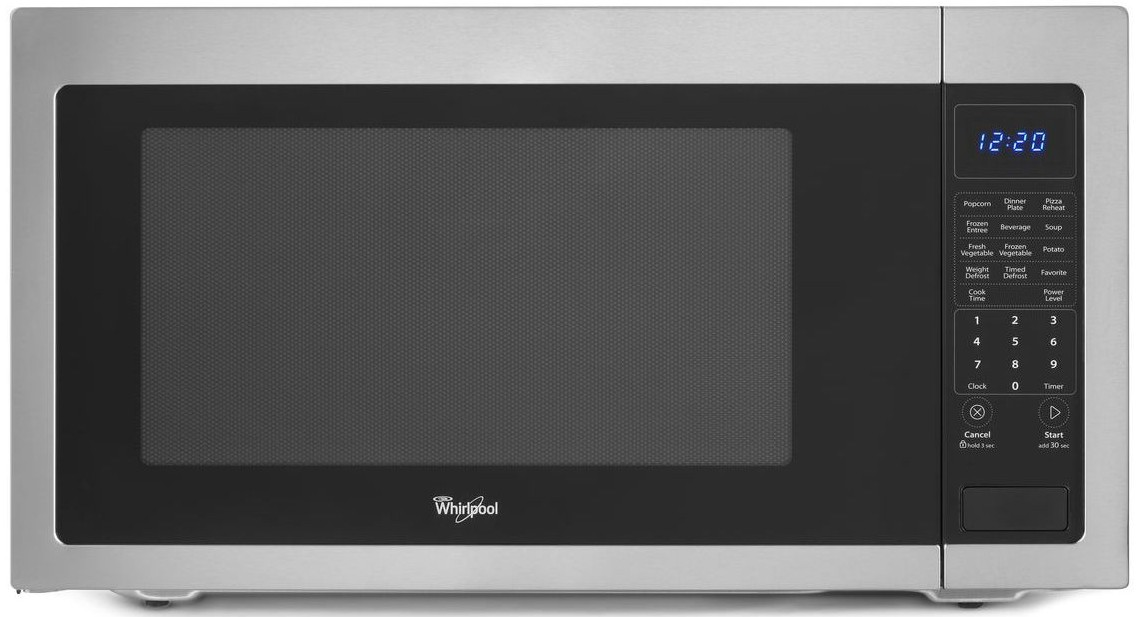 Wmc50522as Whirlpool 2 Cu Ft Countertop Microwave With Greater Capacity Stainless Steel