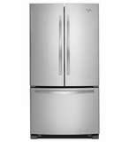 WRF532SMBM Whirlpool 22 cu. ft. French Door Refrigerator with Accu-Chill System - Stainless Steel