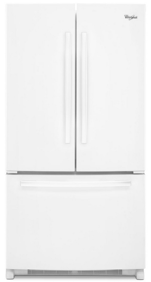 WRF535SWBW Whirlpool 25 Cu. Ft. French Door Refrigerator With Interior  Water Dispenser   White