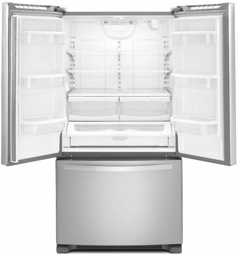 20 Cu Ft French Door Refrigerator: WRF540CWBM Whirlpool 20 Cu. Ft. French Door Refrigerator With Counter Depth Styling