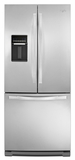"WRF560SEYM Whirlpool 30"" French Door Refrigerator with Exterior Dispenser - Stainless Steel"