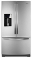 WRF997SDDM Whirlpool 29 cu. ft. French Door Smart Refrigerator with CoolVox Kitchen Sound System - Monochromatic Stainless Steel