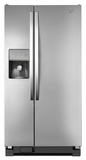 WRS322FDAM Whirlpool Monochromatic Stainless Steel 22 cu. ft. Side-by-Side Refrigerator with LED Lighting - Monochromatic Stainless Steel