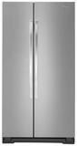 WRS322FNAM Whirlpool 22 cu. ft. Side-by-Side Refrigerator with LED Lighting witch Accu-Chlll - Monochromatic Stainless