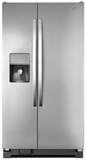 "WRS335FDDM Whirlpool 36"" Wide 25 Cu. Ft. Side-by-Side Refrigerator with Water Dispenser - Stainless Steel"