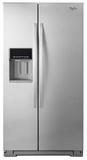 WRS576FIDM Whirlpool 26 cu. ft. Side-by-Side Refrigerator with In-Door-Ice Plus System - Monochromatic Stainless Steel