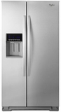 "WRS586FIEM Whirlpool 36"" Side-by-Side 26 Cu. Ft. Refrigerator with Temperature Control - Stainless Steel"