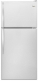 "WRT138FZDM Whirlpool 30"" Wide Top-Freezer Refrigerator with Electronic Temperature Control - Monochromatic Stainless Steel"