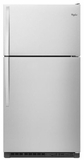 "WRT311FZDM Whirlpool 33"" Wide Top-Freezer Refrigerator - EZ Connect Icemaker Kit Compatible - Monochromatic Stainless Steel"