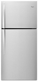 "WRT519SZDM Whirlpool 30"" Wide Top-Freezer Refrigerator with LED Interior Lighting - Monochromatic Stainless Steel"