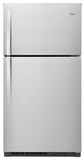 "WRT541SZDM Whirlpool 33"" Wide Top-Freezer Refrigerator - Monochromatic Stainless Steel"