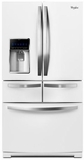 """WRV996FDEH Whirlpool 36"""" 26 Cu. Ft. Double Drawer French Door Refrigerator with Temperature Controlled Drawer - White Ice"""