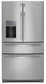 WRX988SIBM Whirlpool 28 cu. ft. 4-Door French Door Refrigerator with the Most Flexible Storage - Monochromatic Stainless Steel