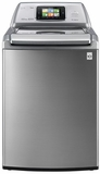 WT6001HVA LG Smart ThinQ 4.7 cu. ft. Ultra Large Capacity High Efficiency Top Load SmartWasher with Allergiene - Graphite Steel