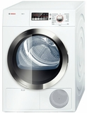 "WTB86202UC Bosch Axxis Plus 4.0 Cu Ft Electric 24"" Compact  Ventless / Condensation Dryer - White"