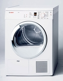 """WTE86300US Bosch 24"""" Axxis Condensation Electric Dryer - White"""