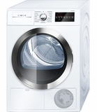 "WTG86402UC Bosch 800 Series 24"" Compact Condensation Dryer - White/Chrome"