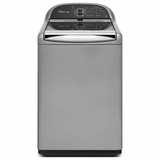 WTW8900BC Whirlpool 4.8 cu. ft. Cabrio Platinum HE Top Load Washer with Sanitary Cycle - Chrome Shadow