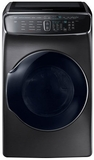 "WV60M9900AV Samsung 27"" 6.0 cu. ft. Capacity Front Load Washer With FlexWash and SteamWash - Black Stainless Steel"