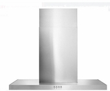 "WVW57UC0FS Whirlpool 30"" Canopy Wall Hood with 400 CFM and 3-Speed Button Control - Stainless Steel"