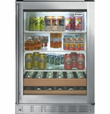"ZDBR240HBS GE Monogram 24"" Beverage Center - Stainless Steel"
