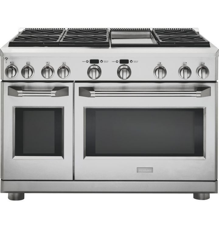 48 dual fuel pro style range with 6 burners and griddle natural gas