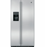 ZFSB25DXSS GE Monogram 25 Cu. Ft. Free-Standing Counter Depth Side-by-Side Refrigerator with Dispenser - Stainless Steel