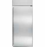 "ZIFS360NHRH GE Monogram 36"" Built-In All Freezer - Right Hinge - Stainless Steel"