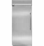 "ZIRP360NHLH GE Monogram 36"" Professional Built-In All Refrigerator - Left Hinge - Stainless Steel"