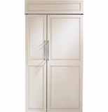 "ZIS420NH GE Monogram 42"" Built-In Side-by-Side Refrigerator - Custom Panel"