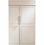 "ZIS480NH GE Monogram 48"" Built-In Side-by-Side Refrigerator - Custom Panel"