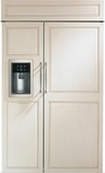"ZISB480DK GE Monogram 48"" Built-In Side-by-Side Refrigerator with LED Lighting and WiFi Connect - Custom Panel"