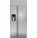 "ZISS360DHSS GE Monogram 36"" Built-In Side-by-Side Refrigerator with Dispenser - Stainless Steel"