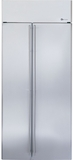 "ZISS360NXSS GE Monogram 36"" Built-In Side-by-Side Refrigerator with LED Lighting - Stainless Steel"