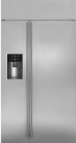 "ZISS420DKSS GE Monogram 42"" Built-In Side-by-Side Refrigerator with LED Lighting and WiFi Connect - Stainless Steel"