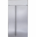 "ZISS420NHSS GE Monogram� 42"" Built-In Side-by-Side Refrigerator - Stainless Steel"