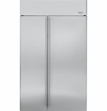 "ZISS480NH GE Monogram 48"" Built-In Side-by-Side Refrigerator - Stainless Steel"