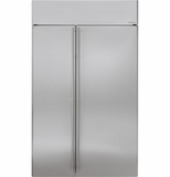 "ZISS480NHSS GE Monogram 48"" Built-In Side-by-Side Refrigerator - Stainless Steel"