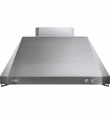 "ZV54ISHSS GE Monogram� 54"" Professional Taper Sided Island Hood - Stainless Steel"
