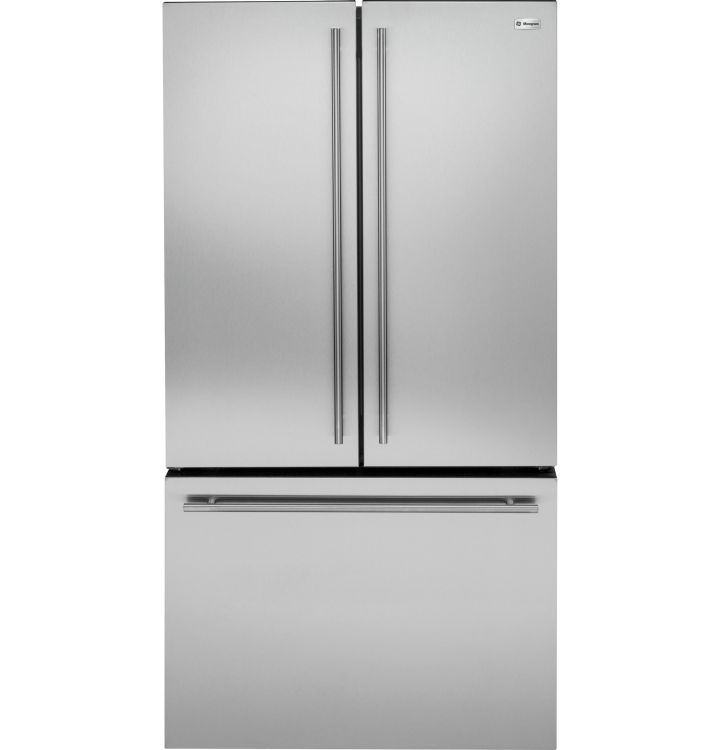 ZWE23ESHSS GE Monogram Energy Star 23.1 Cu. Ft. Counter Depth French-Door Refrigerator - Stainless Steel